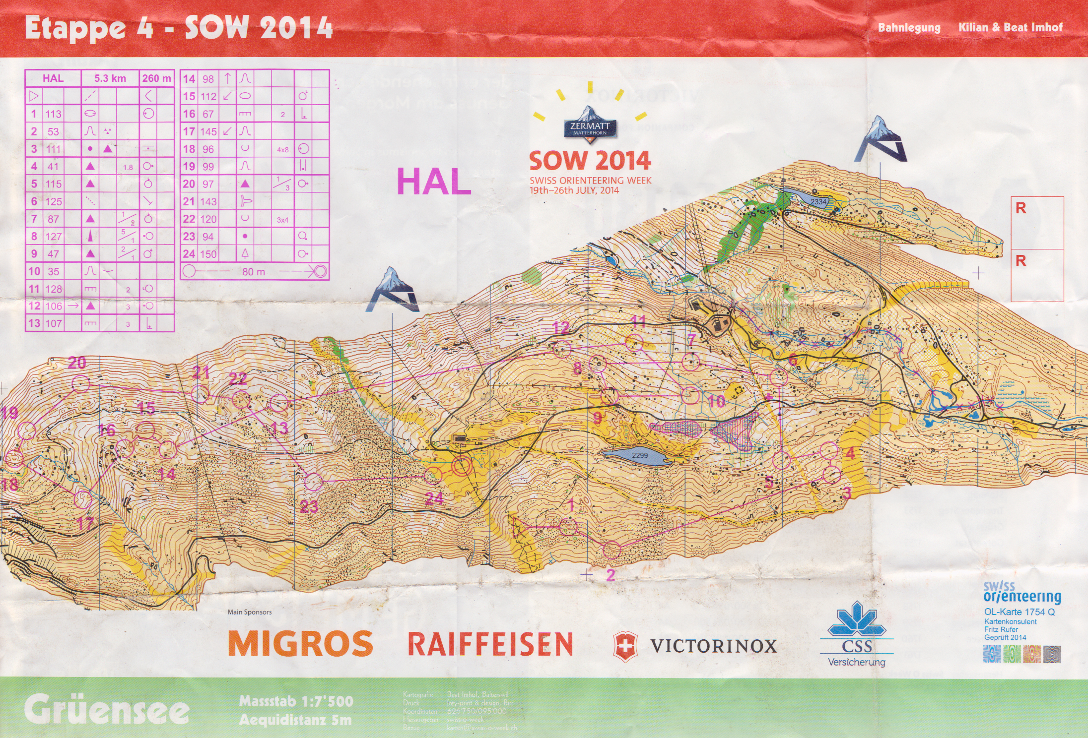 Swiss-O-Week E4 (24/07/2014)